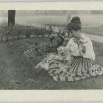 Image of Edith Price with her Dog
