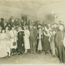 "Image of Grange Party - Grange ""Hard Time"" party 8 February 1925 in Averall, MI."