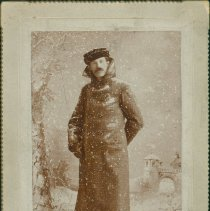 Image of People - unknown man in a winter scene
