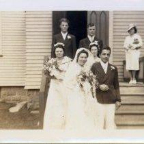 Image of Dorothy Dunham and Richard Marsh - Dunham-Marsh Wedding at St. John's Episocpal Church