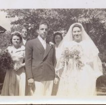 Image of Dorothy Dunham and Richard Marsh - Dorothy Dunham and Richard Marsh wedding reception