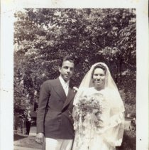 Image of Dorothy Dunham and Richard Marsh - Richard Marsh and Dorothy Dunham at their wedding reception