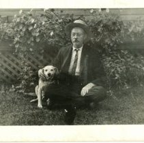 Image of Man and Dog