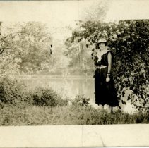 Image of Woman by a body of Water