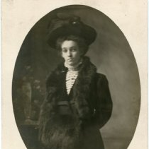 Image of Woman dressed in Furs