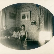 Image of Unknown Women - Two Women seated in a House