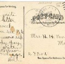 Image of Methodist Church, back of postcard