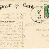 Image of Postcard Addressed to Lorinda Wolf