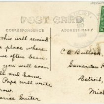 Image of Postcard addressed to C.A. Bullock