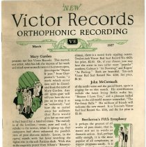 Image of Victor Records Broshure