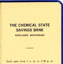Image of The Chemical State Savings Bank Book