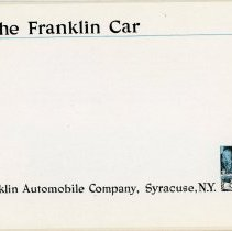 Image of The Franklin Car Advertising Booklet