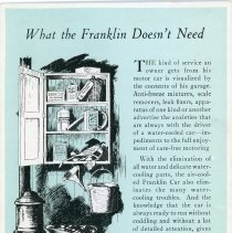 Image of The Franklin Car Advertising Postcard