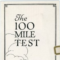 Image of The Franklin Car 100 Mile Test Poster