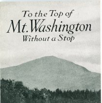 Image of The Franklin Car Mt. Washington Test Advertising