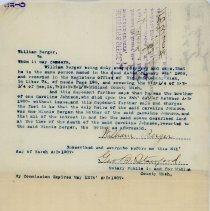 Image of Deed-William Berger, City of Sanford -