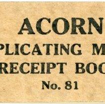 Image of Acorn Money Receipt Book