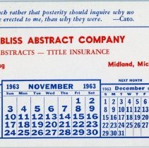 Image of Bliss Abstract Co. Advertising Blotter