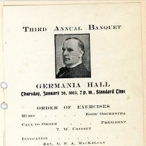 Image of McKinley Republican Club Booklet
