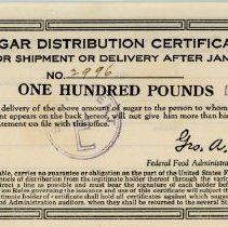 Image of Sugar Distribution Certificate -