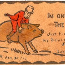 "Image of Addressed to Midland County - ""I'm on the Hog"""