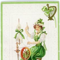 """Image of Addressed to Midland County - """"Souvenir of St. Patrick's Day"""""""