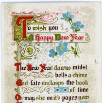 """Image of Addressed to Midland County - """"To Wish You a Happy new Year"""""""