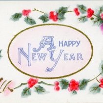 """Image of Addressed to Midland County - """"A Happy New Year"""""""