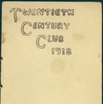 Image of 20th Century Club Program-1918