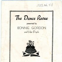 Image of Dance Review Theatre Program 1936 - Front Cover