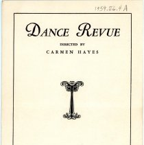 Image of Dance Review Theatre Program 1932 - Front Cover