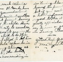 Image of Letter from Mrs. Myra Richmond - Inside Pages
