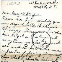 Image of Correspondence of Mrs. Myra Richmond -