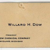 Image of Willard Dow's Business Card