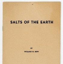 Image of Willard Dow's Salts of the Earth Speech