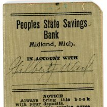 Image of People's State Savings Bank Book -