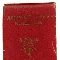 Image of Ellis Brandt's Army Officer's Notebook  -