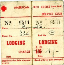 Image of Lodging Pass - American Red Cross