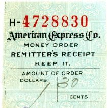 Image of American Express money order remitter's receipt
