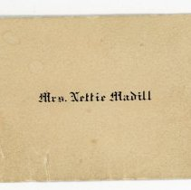 Image of Calling Card Nettie Madill