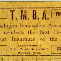 Image of The Michigan Benevolent Association Notebook - Back Cover