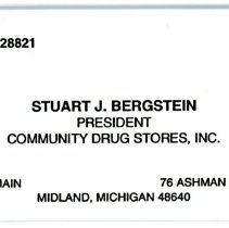 Image of Stuart Bergstein Business Card -