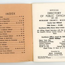Image of Midland County Directory of Officials - inside cover