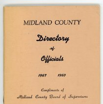 Image of Midland County Directory of Officials - cover