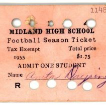 Image of Midland High School Football Season Ticket -