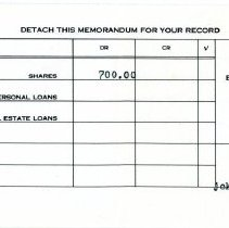 Image of Dow Chemical Employees' Credit Union Deposit Receipt