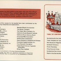 Image of Handi-Wrap Advertising Booklet - Index Page