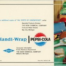 Image of Handi-Wrap Advertising Booklet - Back Cover