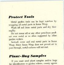 Image of Saran Wrap Advertising Brochure - Back Cover