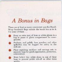 Image of Handi-Wrap Advertising Brochure - Back Cover